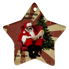 Karl Marx Santa  Ornament (star)
