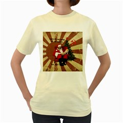 Karl Marx Santa  Women s Yellow T Shirt