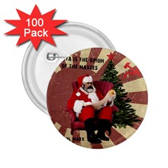 Karl Marx Santa  2 25  Buttons (100 Pack)