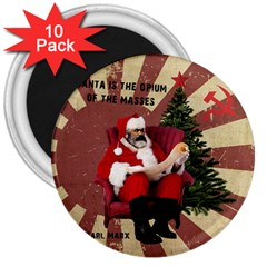 Karl Marx Santa  3  Magnets (10 Pack)