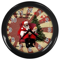 Karl Marx Santa  Wall Clocks (black)