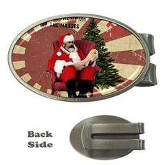 Karl Marx Santa  Money Clips (oval)