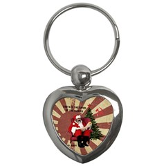 Karl Marx Santa  Key Chains (heart)