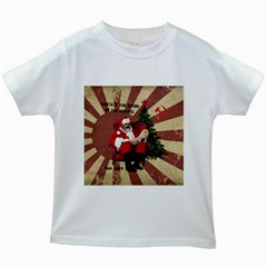 Karl Marx Santa  Kids White T Shirts