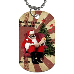 Karl Marx Santa  Dog Tag (two Sides)