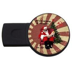 Karl Marx Santa  Usb Flash Drive Round (2 Gb)