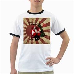 Karl Marx Santa  Ringer T Shirts