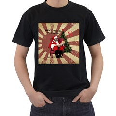 Karl Marx Santa  Men s T Shirt (black) (two Sided)
