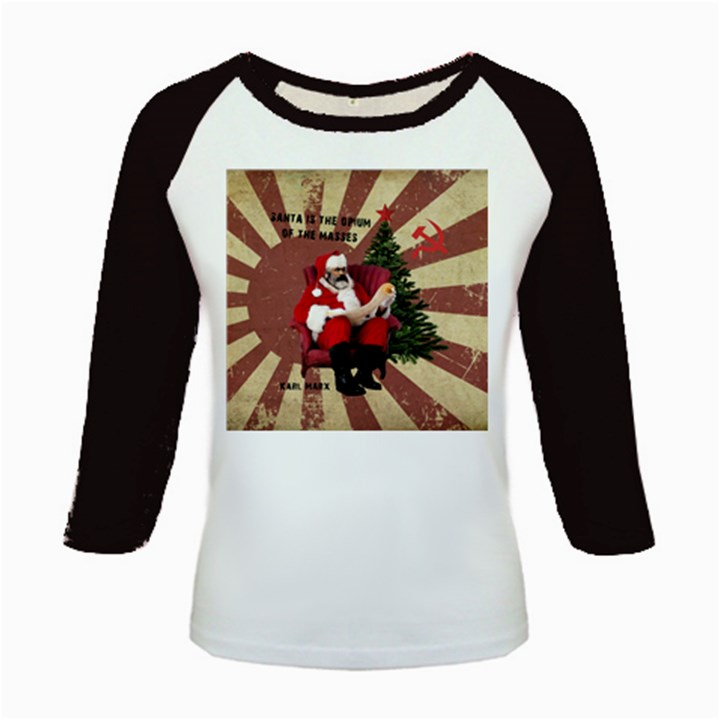 Karl Marx Santa  Kids Baseball Jerseys