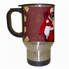 Karl Marx Santa  Travel Mugs (white)