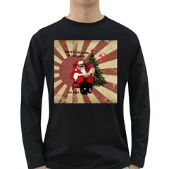 Karl Marx Santa  Long Sleeve Dark T Shirts