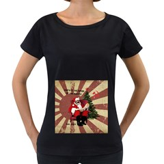 Karl Marx Santa  Women s Loose Fit T Shirt (black)