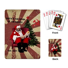 Karl Marx Santa  Playing Card