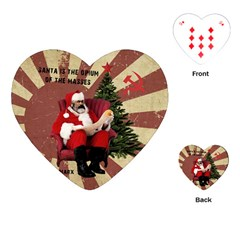 Karl Marx Santa  Playing Cards (heart)