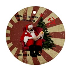 Karl Marx Santa  Round Ornament (two Sides)