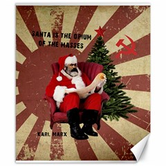 Karl Marx Santa  Canvas 8  X 10