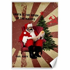 Karl Marx Santa  Canvas 12  X 18