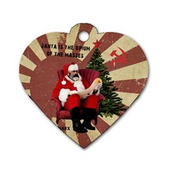 Karl Marx Santa  Dog Tag Heart (one Side)