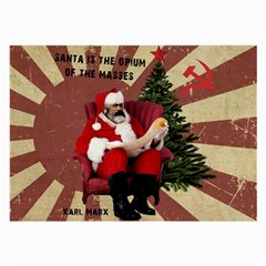 Karl Marx Santa  Large Glasses Cloth
