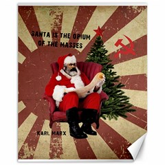 Karl Marx Santa  Canvas 11  X 14