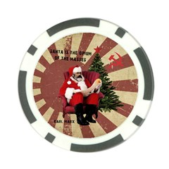 Karl Marx Santa  Poker Chip Card Guard