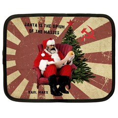 Karl Marx Santa  Netbook Case (large)