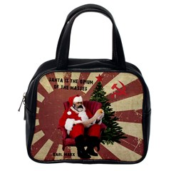 Karl Marx Santa  Classic Handbags (one Side)