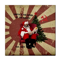 Karl Marx Santa  Face Towel