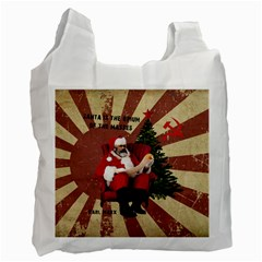 Karl Marx Santa  Recycle Bag (one Side)