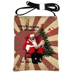 Karl Marx Santa  Shoulder Sling Bags
