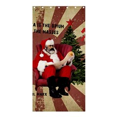Karl Marx Santa  Shower Curtain 36  X 72  (stall)