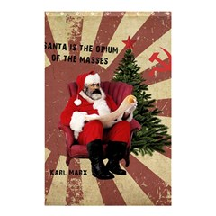 Karl Marx Santa  Shower Curtain 48  X 72  (small)