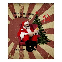 Karl Marx Santa  Shower Curtain 60  X 72  (medium)