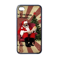 Karl Marx Santa  Apple Iphone 4 Case (black)