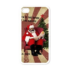 Karl Marx Santa  Apple Iphone 4 Case (white)