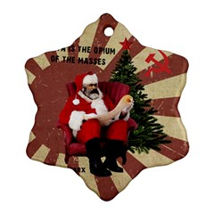Karl Marx Santa  Snowflake Ornament (two Sides)