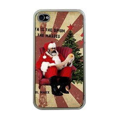 Karl Marx Santa  Apple Iphone 4 Case (clear)