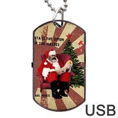 Karl Marx Santa  Dog Tag Usb Flash (two Sides)