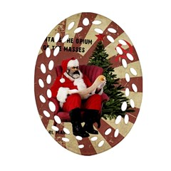 Karl Marx Santa  Oval Filigree Ornament (two Sides)