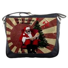 Karl Marx Santa  Messenger Bags