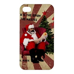 Karl Marx Santa  Apple Iphone 4/4s Premium Hardshell Case