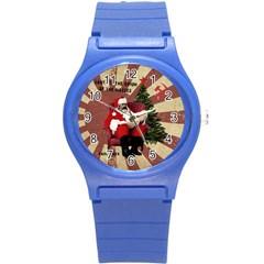 Karl Marx Santa  Round Plastic Sport Watch (s)