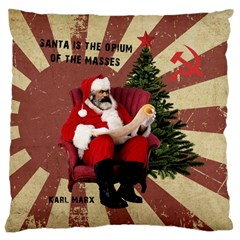 Karl Marx Santa  Large Cushion Case (two Sides)