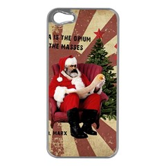 Karl Marx Santa  Apple Iphone 5 Case (silver)