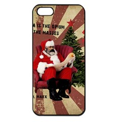 Karl Marx Santa  Apple Iphone 5 Seamless Case (black)