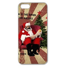 Karl Marx Santa  Apple Seamless Iphone 5 Case (clear)