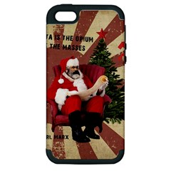 Karl Marx Santa  Apple Iphone 5 Hardshell Case (pc+silicone)