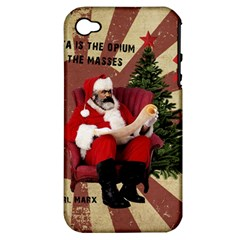 Karl Marx Santa  Apple Iphone 4/4s Hardshell Case (pc+silicone)