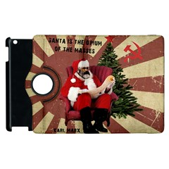 Karl Marx Santa  Apple Ipad 3/4 Flip 360 Case