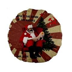 Karl Marx Santa  Standard 15  Premium Round Cushions